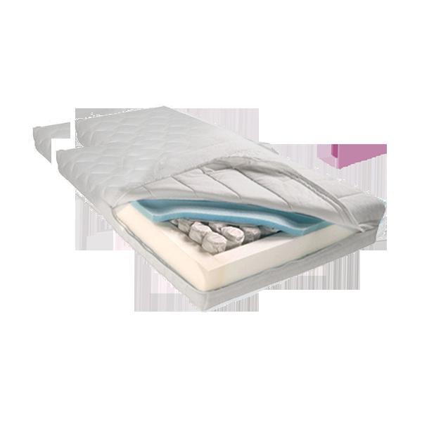 Matras op maat met 1 uitsnede van pocketveer koudschuim.