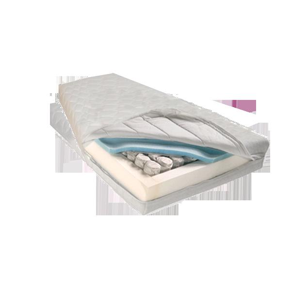 Trapezium matras op maat van pocketveer koudschuim.
