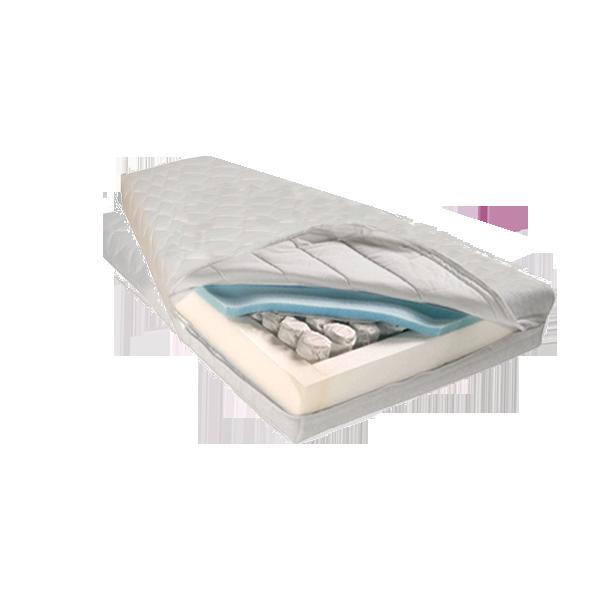 Trapezium matras op maat in pocketveer koudschuim.