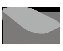 Matras ronde hoeken